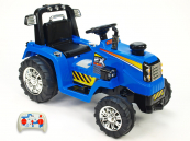 Elektrický traktor s 2,4G dálkovým ovládáním modrý