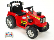 Elektrický traktor s 2,4G dálkovým ovládáním červený