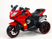 Elektrická tříkolka Dragon osvětlená kola - červená