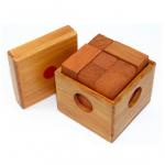 Hlavolam skládací kostka dřevěná