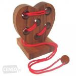 Hlavolam dřevěný srdce The Love test