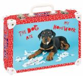 Kufřík The dog ate my homework střední okovaný