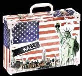 Kufřík New York střední okovaný