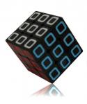 Rubikova kostka černá - Carbon Fibe