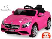 Elektrické auto Mercedes S63 - Růžový lakovaný