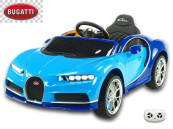 Elektrické auto Bugatti Chiron modré