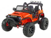 Elektrické auto džíp Brothers, 24v, 2x200W, oranžové