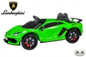Elektrické auto Lamborghini Aventador s 2,4G, lakované zelené