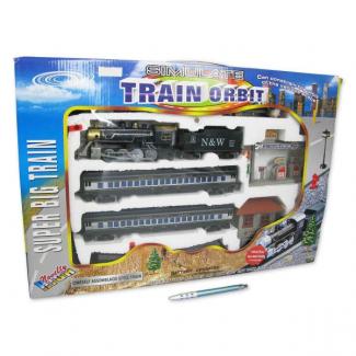 Vlaková souprava s nádražím