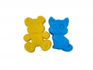Plastové formičky (kotě a medvídek)