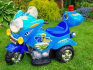 Elektrická silniční minimotorka-modrá