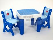 Sada dvou židliček a stolku se 2 šuplíky pro děti