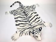Plyšová předložka Tygr bílý velikost XL