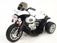 Elektrická tříkolka Chopper Harleyek na masivních kolech, 6V, černý
