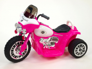 Elektrická tříkolka Chopper Harleyek 6V růžová