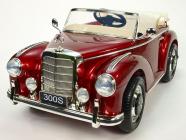 Elektrické auto Mercedes-Benz 300S Oldtimer vínový