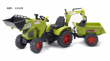 Šlapací traktor Claas Axos 330 zelený