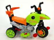 Elektrická tříkolka 3V1 s výsuvnou vodící tyčí, šlapkami, jízda na motor, šlapáním, tlačením madla, zelená