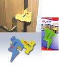 Ochrana proti přiskřípnutí prstů a stabilizátor dveří zelený