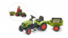 Šlapací traktor Claas Arion 410 s 2 kolovým valníkem