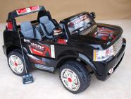 Elektrické auto Džíp Rover dvoumístný černý