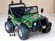 Elektrické auto Džíp vojenský s DO