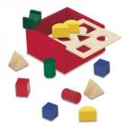 Dřevěná krabička s tvary - Bino