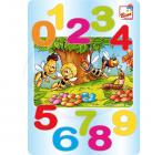 Dřevěné puzzle na desce - Včelka Mája - čísla