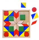 Dřevěná barevná mozaika