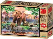 Puzzle Medvědi 3D 500 dílků