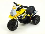 Elektrická motorka Racing sport 6V žlutá