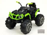 Elektrická čtyřkolka Predator s 2,4G DO EVA kola černozelená