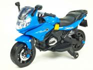 Elektrická silniční závodní motorka modrá