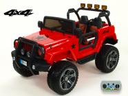 Elektrické auto Džíp Wrangler 4x4 s 2,4G DO-červený
