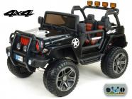Elektrické auto Džíp Wrangler 4x4 s 2,4G DO-černý