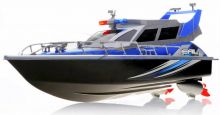 RC Policejní zásahový člun modrý