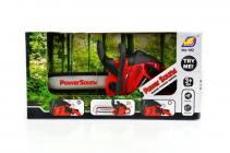 Dětská motorová pila na baterie červená