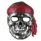 Maska karnevalová - Pirát lebka stříbrná