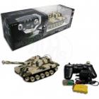 Tank na dálkové ovládání s pásy - hnědý