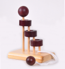 Hlavolam dřevěný schody Hoop Puzzle