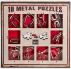 Sada 10 kovových hlavolamů - červená