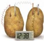 Bramborové,Jablkové,Rajčatové hodiny, Potato clock