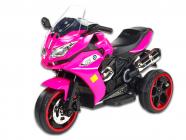Elektrická tříkolka Dragon osvětlená kola, růžová