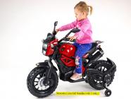 Elektrická motorka terénní Lion s plynovou rukojetí a nožní brzdou vínová
