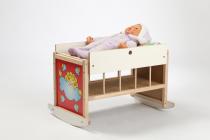 Dřevěné hračky Jaroš Dřevěná postýlka - kolébka pro panenky