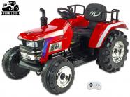 Elektrický traktor Big Farm s 2,4G, největší traktor, červený