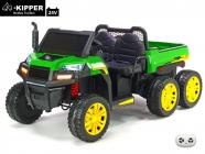 Elektrické auto Kipper s 2,4G, dvoumístné, 24V, motory 4x 200W, zelené