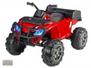 Elektrická čtyřkolka Predator XXL s výklopnou korbou, červená