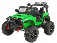 Elektrické auto džíp Brothers, 24v, 2x200W, zelené