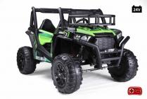 Elektrická Bugina Super Muster 1000R s 2,4G, dvoumístná, 24V/2x200W, zelená